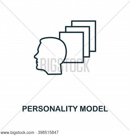 Personality Model Icon. Line Style Element From Personality Collection. Thin Personality Model Icon