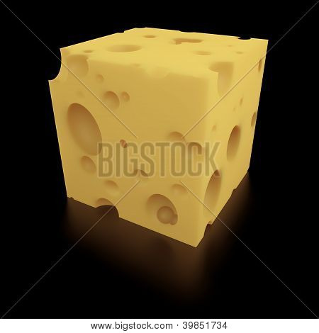 A Perfect Portion Of Swiss Cheese