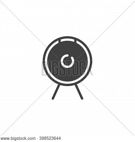 Gong Musical Instrument Vector Icon. Filled Flat Sign For Mobile Concept And Web Design. Percussion