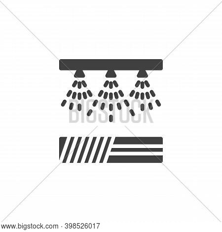 Irrigation Sprinklers Vector Icon. Filled Flat Sign For Mobile Concept And Web Design. Field Waterin