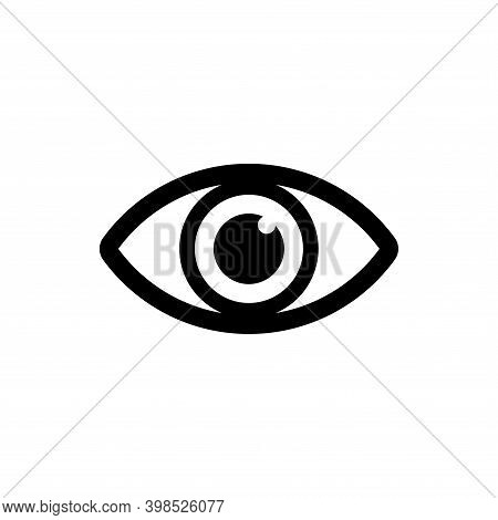 Human Eye Icon Vector. Eye Icon Black Isolated On White Background. Eye Icon Simple Vector Illustrat