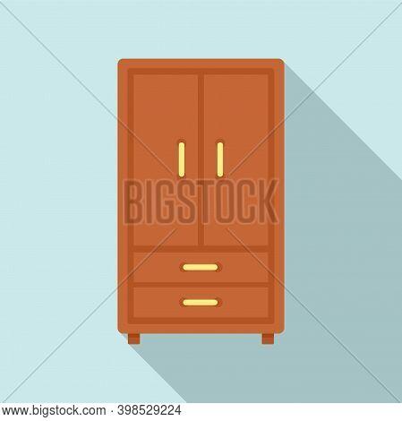 Room Service Wardrobe Icon. Flat Illustration Of Room Service Wardrobe Vector Icon For Web Design