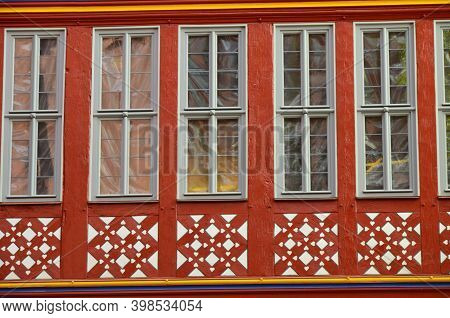 Frankfurt Am Main, Germany - 10.01.2017: Historical Romer Square In The City Of Frankfurt Main, Germ