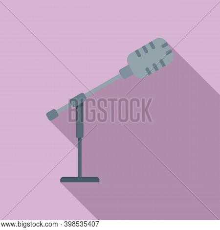 Stage Director Microphone Icon. Flat Illustration Of Stage Director Microphone Vector Icon For Web D