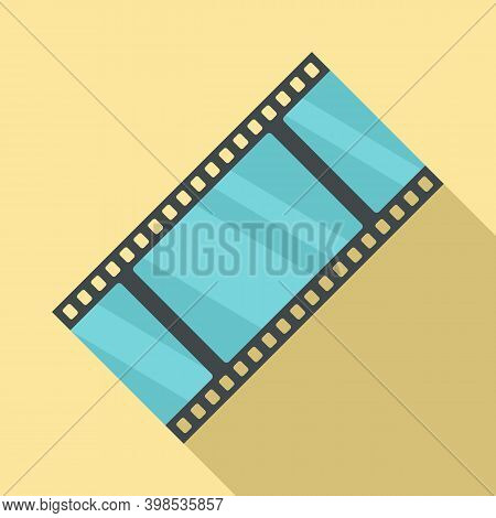 Cinema Film Icon. Flat Illustration Of Cinema Film Vector Icon For Web Design