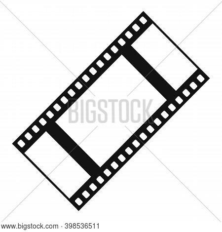 Cinema Film Icon. Simple Illustration Of Cinema Film Vector Icon For Web Design Isolated On White Ba