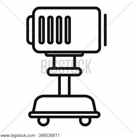 Stage Director Light Device Icon. Outline Stage Director Light Device Vector Icon For Web Design Iso