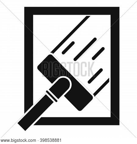 Window Cleaning Icon. Simple Illustration Of Window Cleaning Vector Icon For Web Design Isolated On