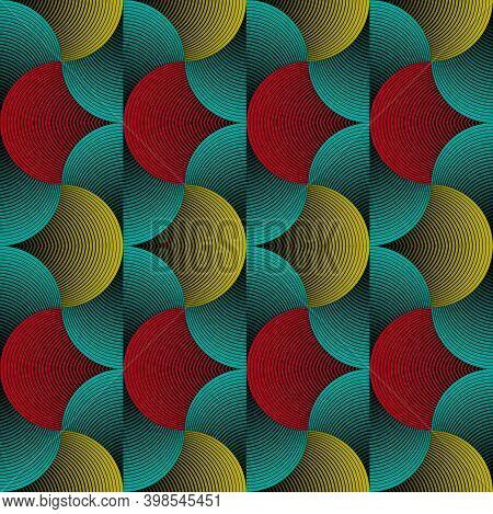 African Wax Print Fabric, Seamless Kanka Kikoy Ornament For Your Design, Colorful Tribal Motifs, Ove