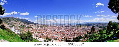 Quito old historic center, ecuador