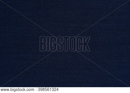 Dark Blue Texture Close-up Knitted Or Woolly Fabric For Wallpaper Or Background