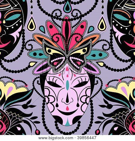 Colorful Mask Seamless