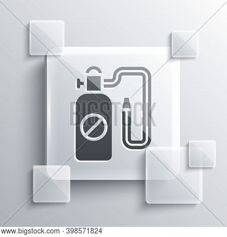 Grey Pressure Sprayer For Extermination Of Insects Icon Isolated On Grey Background. Pest Control Se