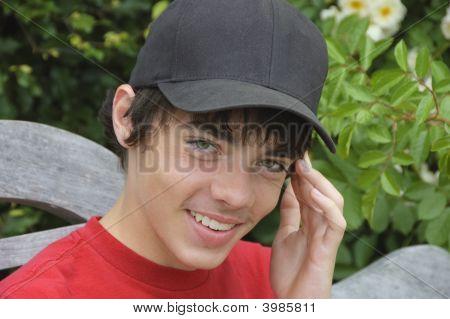 Smiling Teenager Boy