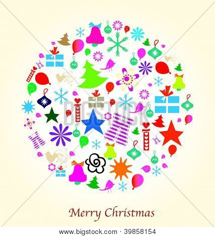 Merry Christmas Design elements