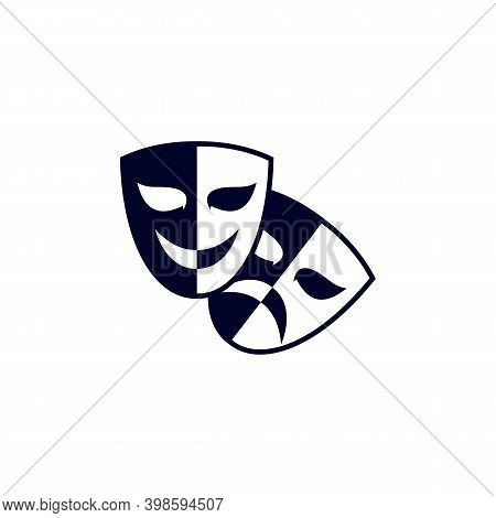 Acting For Movie Icon Logo Vector Template, Creative Movie Logo Concept, Icon Symbol, Illustration