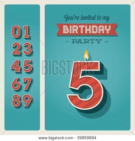 Birthday card invitation editable