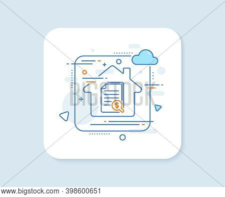 Financial Documents Line Icon. Abstract Vector Button. Audit Or Accounting Sign. Check Finance Symbo