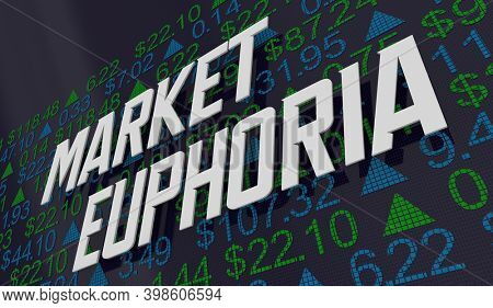 Market Euphoria Big Rally Boom Bull Rise Stock Price Increase 3d Illustration