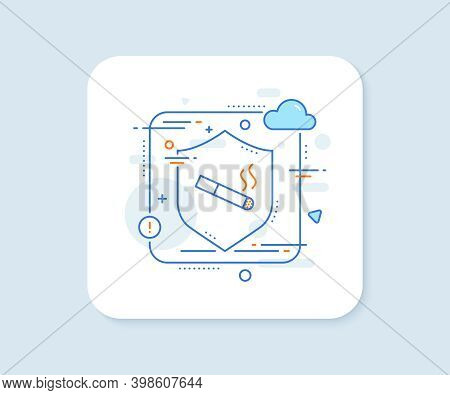 Smoking Area Line Icon. Abstract Vector Button. Cigarette Sign. Smokers Zone Symbol. Smoking Line Ic