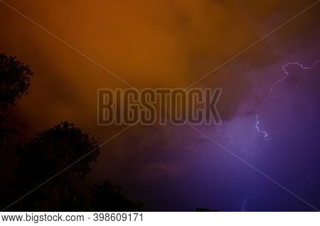 Lightning, Catching Lightning On A Stormy Night, Pure Energy, Intense Light.