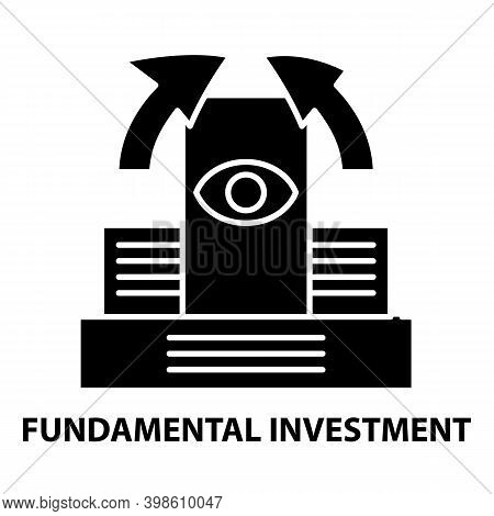 Fundamental Investment Icon, Black Vector Sign With Editable Strokes, Concept Illustration