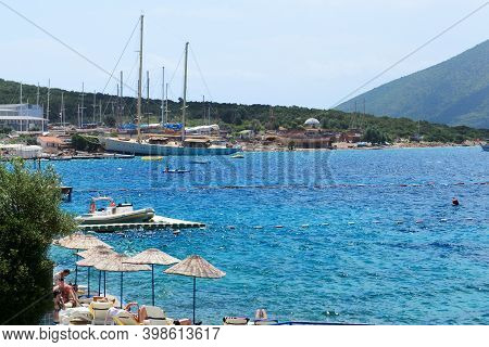 Bodrum, Turkey - May 23: The Tourists Enjoing Their Vacation In Luxury Hotel On May 23, 2013 In Bodr