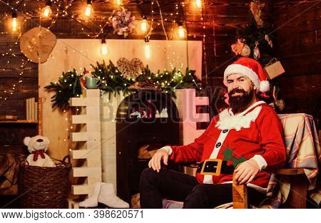 Winter Holidays. Greetings From Santa. Dear Santa. Santa Claus Residence. Cozy Home Atmosphere. Wint