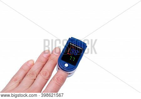 Pulse Oximeter Used To Measure Pulse Rate And Oxygen Levels
