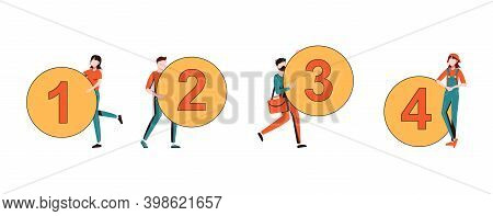 Vector Graphic, Circle Number Options Infographic, Can Be Used For Workflow Layout, Diagram, Present