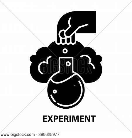 Experiment Icon, Black Vector Sign With Editable Strokes, Concept Illustration