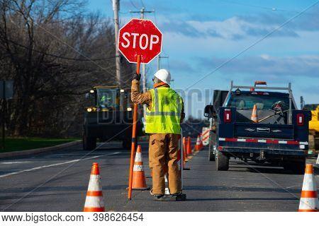 Signs Repairs Road And Worker Orange Drive