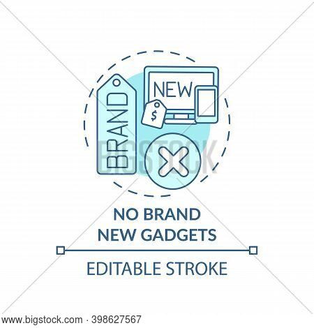 No Brand New Gadgets Concept Icon. Shopping Tip Idea Thin Line Illustration. Saving And Budgeting. B