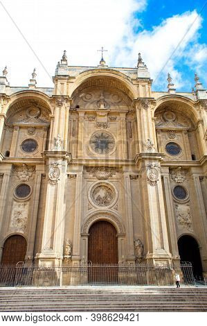 Stone Side Of Granada Cathedral And Pinnacles To See In An Unforgettable Trip