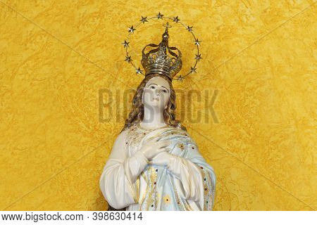 Statue Of The Image Of Our Lady Of The Immaculate Conception, Mother Of God In The Catholic Religion