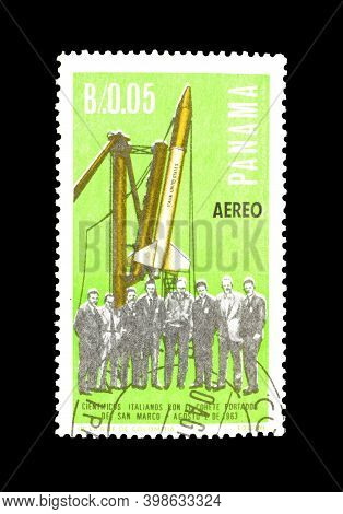 Panama - Circa 1966 : Cancelled Postage Stamp Printed By Panama, That Shows Italian Contribution To