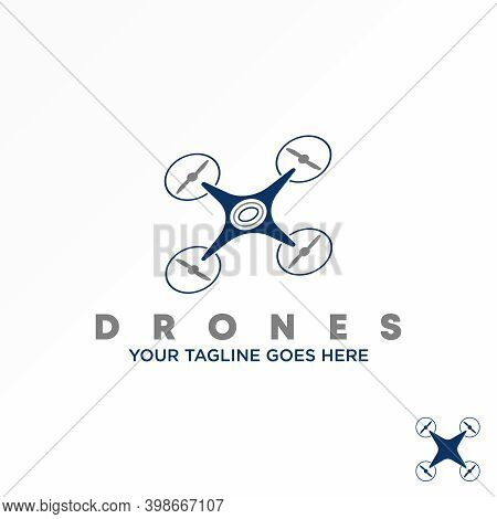 Drone Logo. Flying Drone Design. Simple Drone Concept. Can Be Used As A Symbol Relating To Flight.