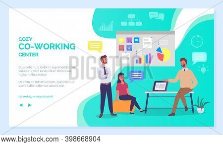 Co Working People Webpage, Business Meeting, Teamwork, Collaboration And Discussion, Conference Tabl