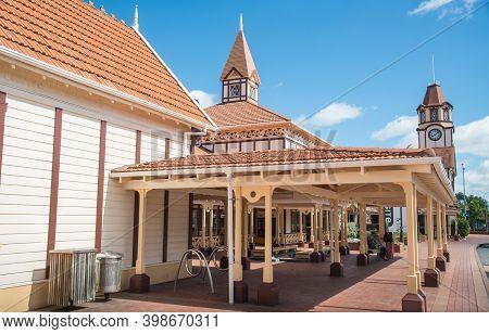 Rotorua, New Zealand - December 12 2017: The Rotorua Visitor Centre & I-site Is The Official Domesti