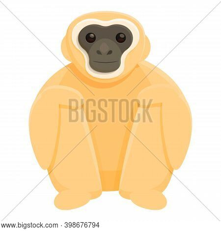 Gibbon Zoo Icon. Cartoon Of Gibbon Zoo Vector Icon For Web Design Isolated On White Background