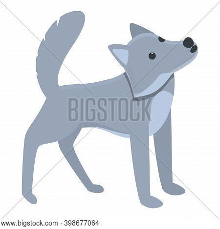 Nordic Wolf Icon. Cartoon Of Nordic Wolf Vector Icon For Web Design Isolated On White Background