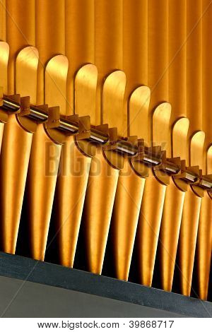 Golden organ pipes