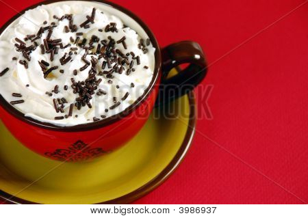 Latte With Chocolate Sprinkles