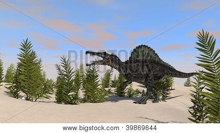 spinosaurus in jubgle