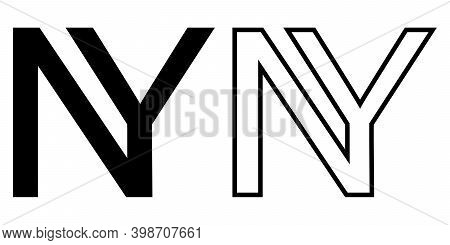 Ny New York Year Logo 2021, Vector Of Two Merging Letters Ny, Ny Symbol Of The Year New York, For Pr