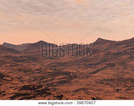 Mars Landscape - 3D Render