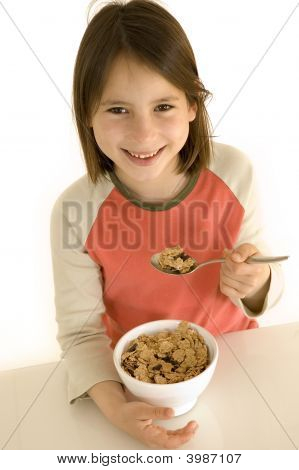 Young Girl With Breakfast