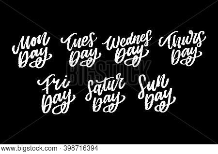 Vector Handwritten Inscription Days A Week. Calligraphy.dwritten Inscription Days A Week. Calligraph