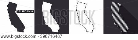 State Of California. Map Of California. United States Of America California. State Maps. Vector Illu