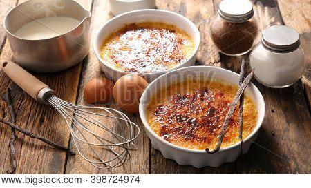 creme brulee.  dessert with caramel